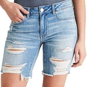 American Eagle Tomgirl Bermuda Shorts